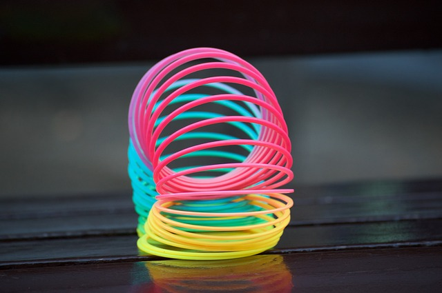 Slinky colored spring